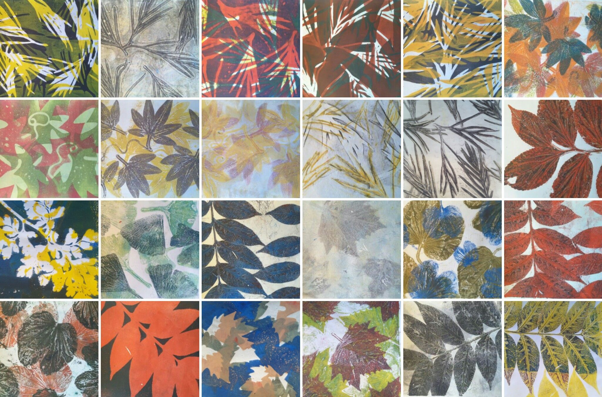 Geliprint Leaves From The Garden Art Art Prints Gelli Arts