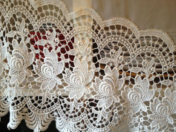 gorgeous european vintage lace curtain 2 available