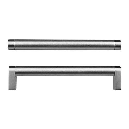 ORRNÄS Handle, stainless steel stainless steel color | Steel ...