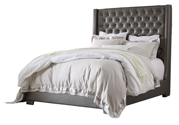 Best Ashley Furniture Coralayne Queen Upholstered Panel Bed 640 x 480