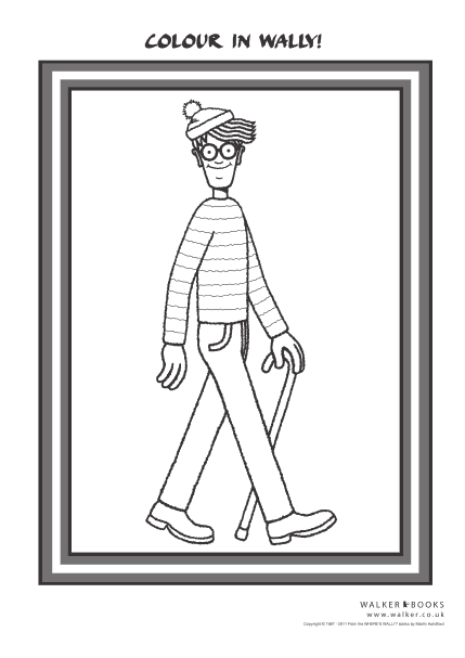 waldo coloring pages - photo#3