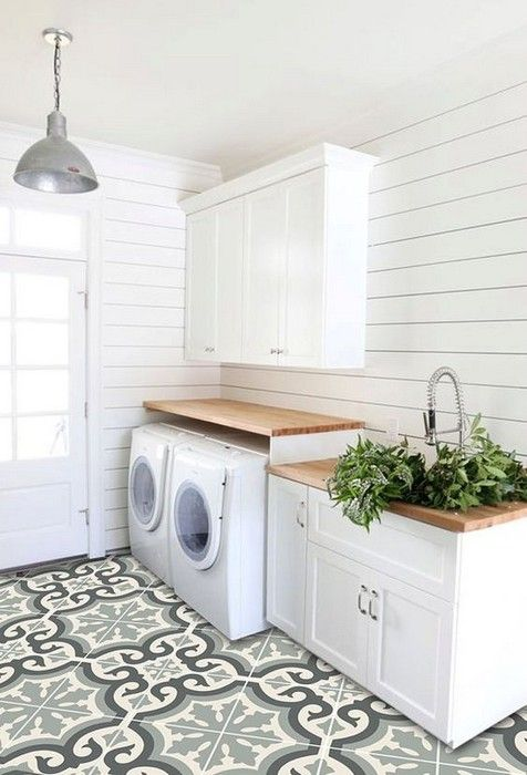 Black And White Plaid Floor Tiles Laundry Room Flooring Laundry