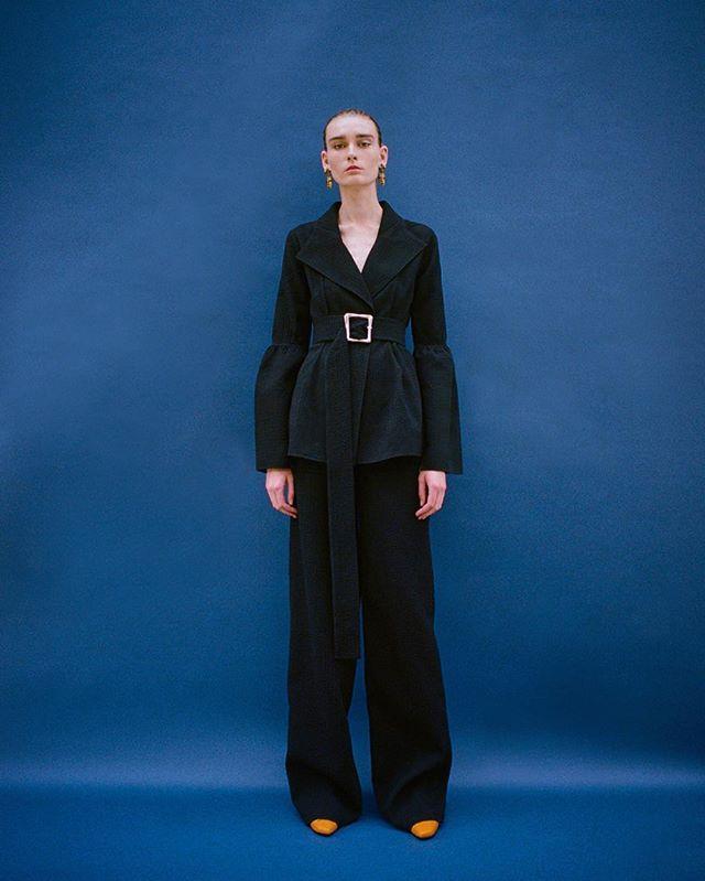 London Fashion Week starts today! REJINA PYO SS17 #RejinaPyoClaireJacket 💙 Check out more on WWW.REJINAPYO.COM ✨  #model Elina @zinchenkohelena #rejinapyo #레지나표 #ss17 #lookbook #룩북 #collection #컬렉션 #nyfw #lfw #fashionweek #패션위크 #designer #디자이너 #ootd #daily #아웃핏 #데일리