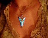 Solid Silver .925 Lord of the Rings Arwen Evenstar Glowing Pendant
