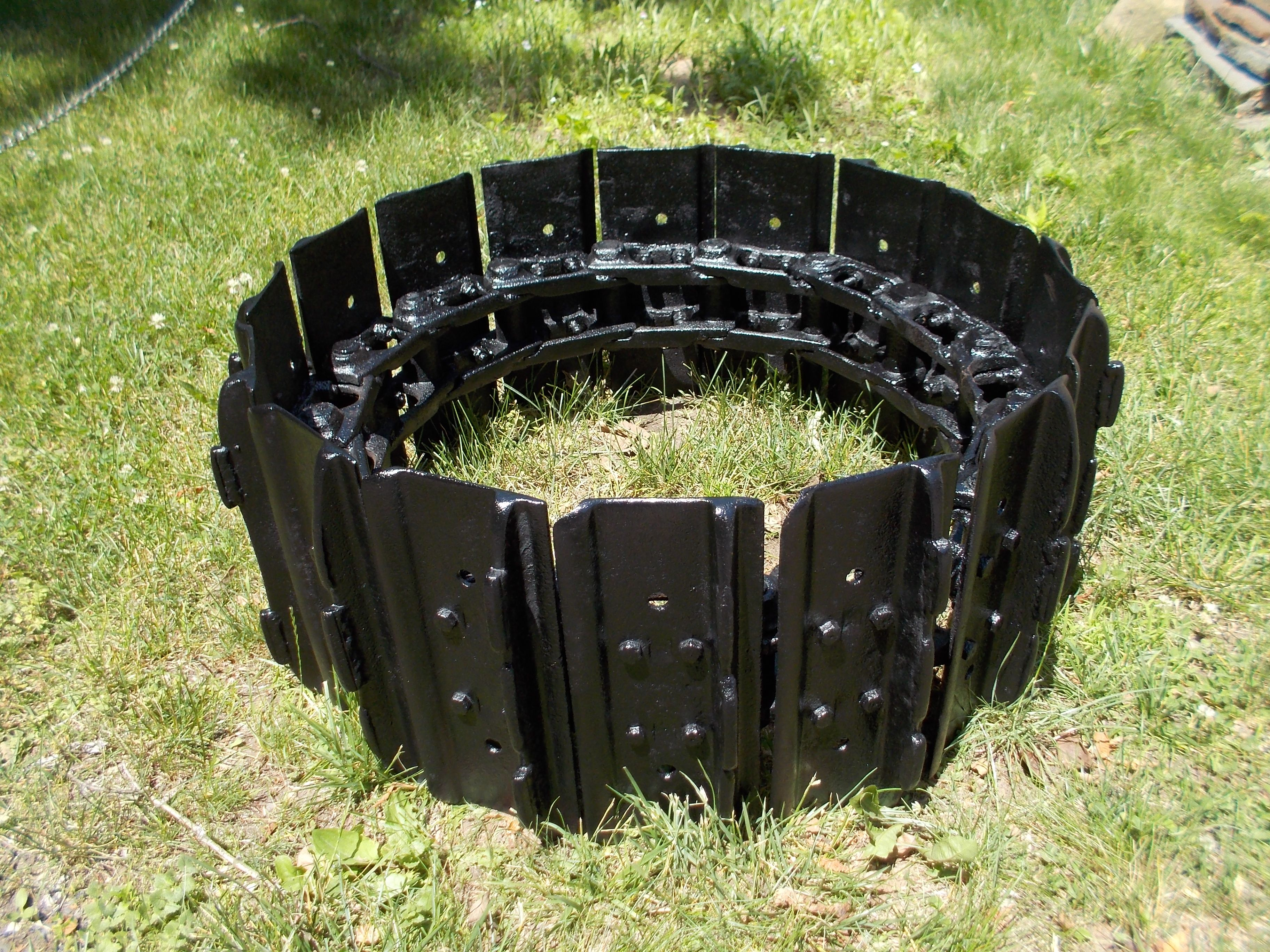 bulldozer track fire pit studio25 functional metal art works by
