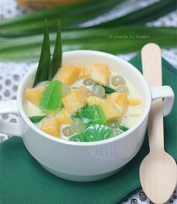 Mango pandan dessert the peach kitchen filipino food recipe mango pandan salad a combination of two of the best tropical flavors find this pin and more on filipino food recipe forumfinder Gallery