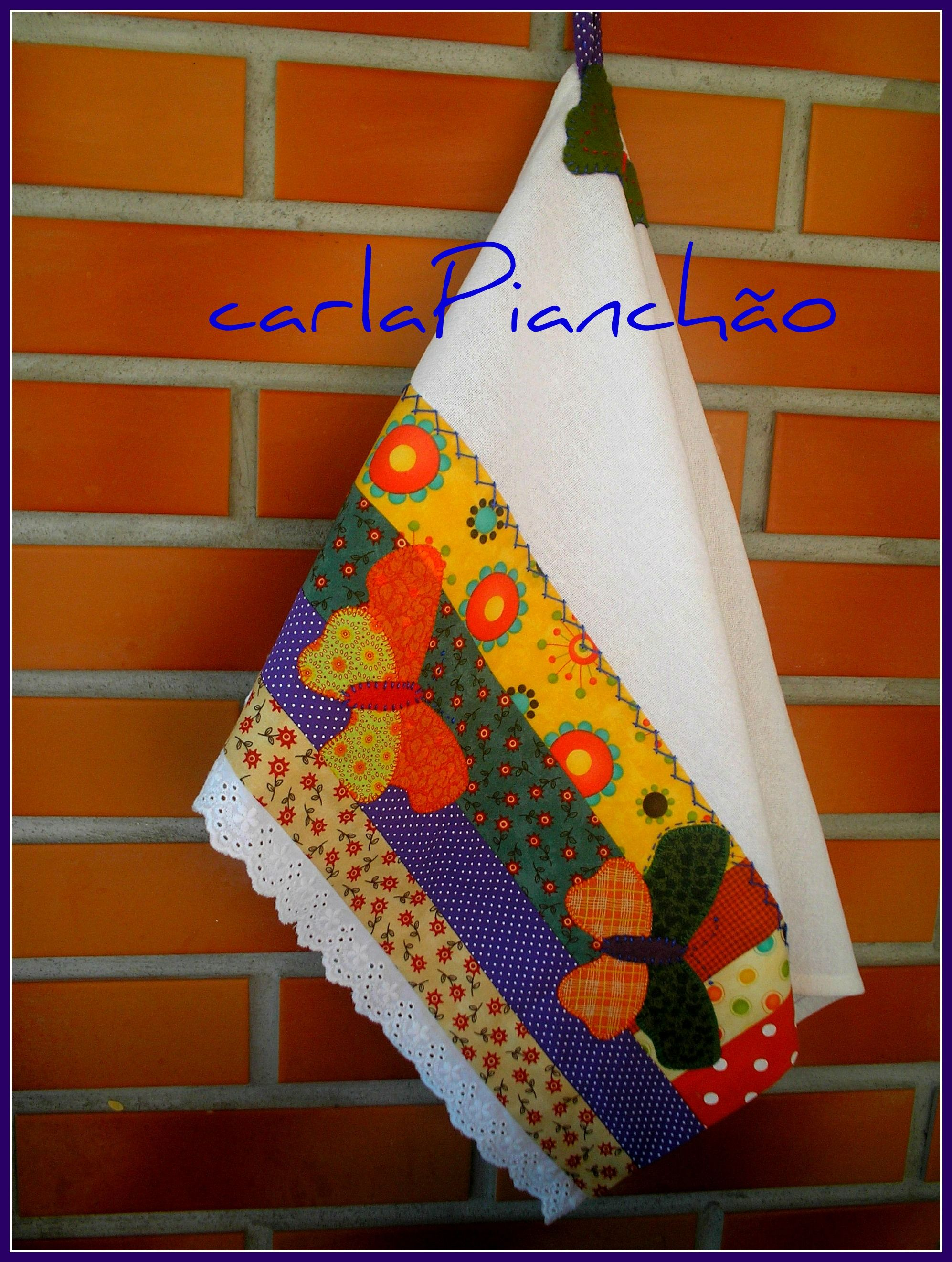 Pano de prato borboleta mantelitos toallas pinterest - Apliques de cocina ...