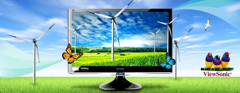 """$ 141.99 for $ 306 Value - ViewSonic 24"""" Ultra-thin Widescreen LED Monitor 1080p +FREE Shipping! Ends 5/10/12"""