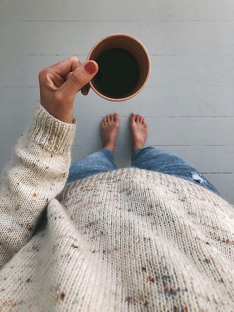 Photo of Ravelry: No Frills Sweater pattern by PetiteKnit #frills #knitting #sweater