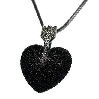 I want 18 carat white gold diamond and black diamond heart pendant i want 18 carat white gold diamond and black diamond heart pendant on an 18 carat white gold snake chain aloadofball Images