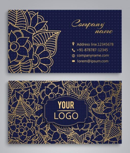 Gold Foil Business Cards Printing With Free Shipping In Uk Usa