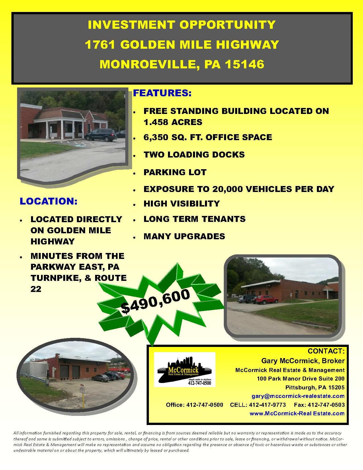 Cormick Realestate Investment Opportunity Free