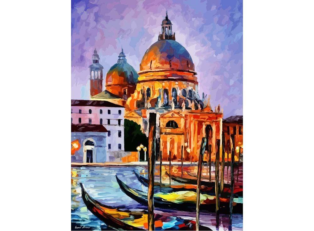 Картина по номерам «Ночная Венеция» Леонида Афремова ...