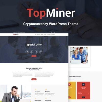Cryptocurrency website on wordpress