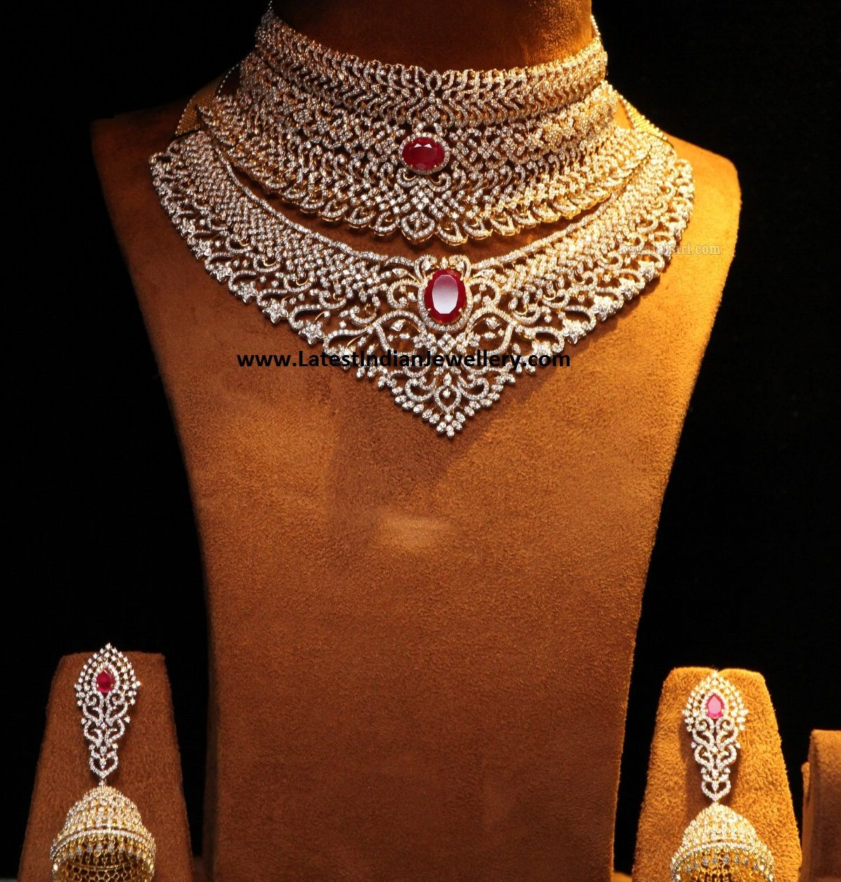 search img indian style diamond albums necklace