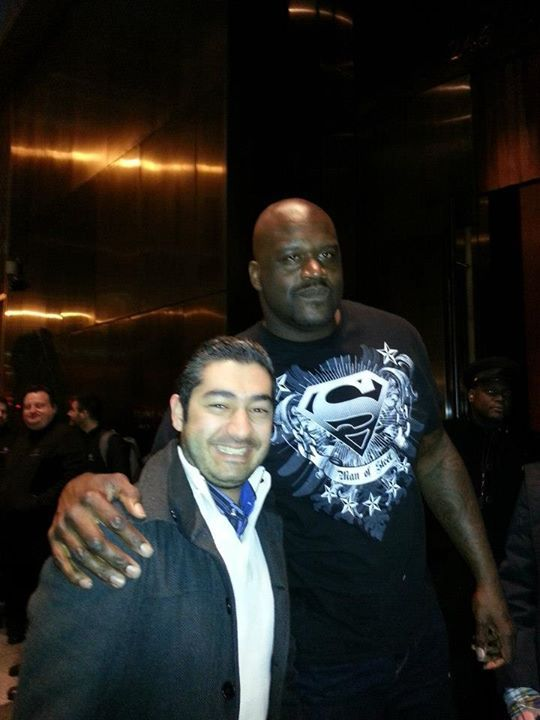 With Shaquille O'Neal