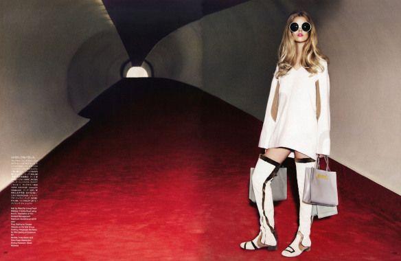 Frida Aasen, Stina Rapp by Ellen von Unwerth for Vogue Japan December 2014 4