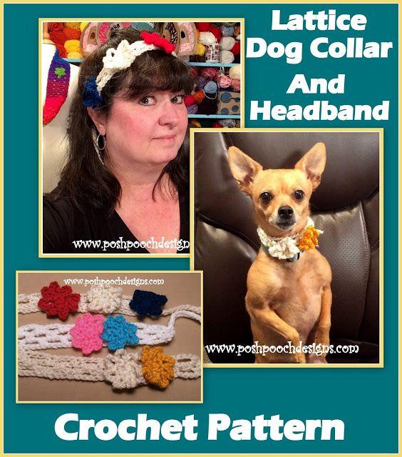 Posh Pooch Designs Dog Clothes Lattice Dog Collar Crochet Pattern