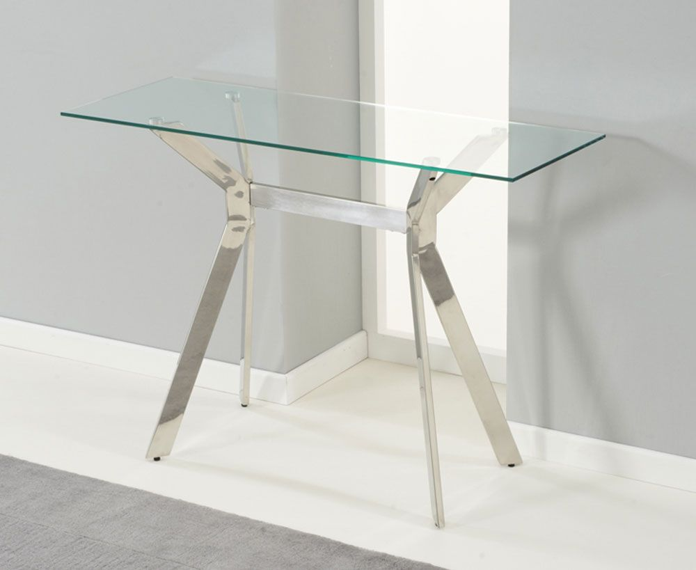 Small Glass Top Console Table Glass Console Table Hall Console Table Modern Console Tables
