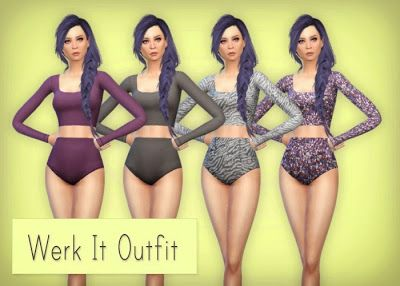 My Sims 4 Blog: Werk It Outfit and Poses by Simsrocuted