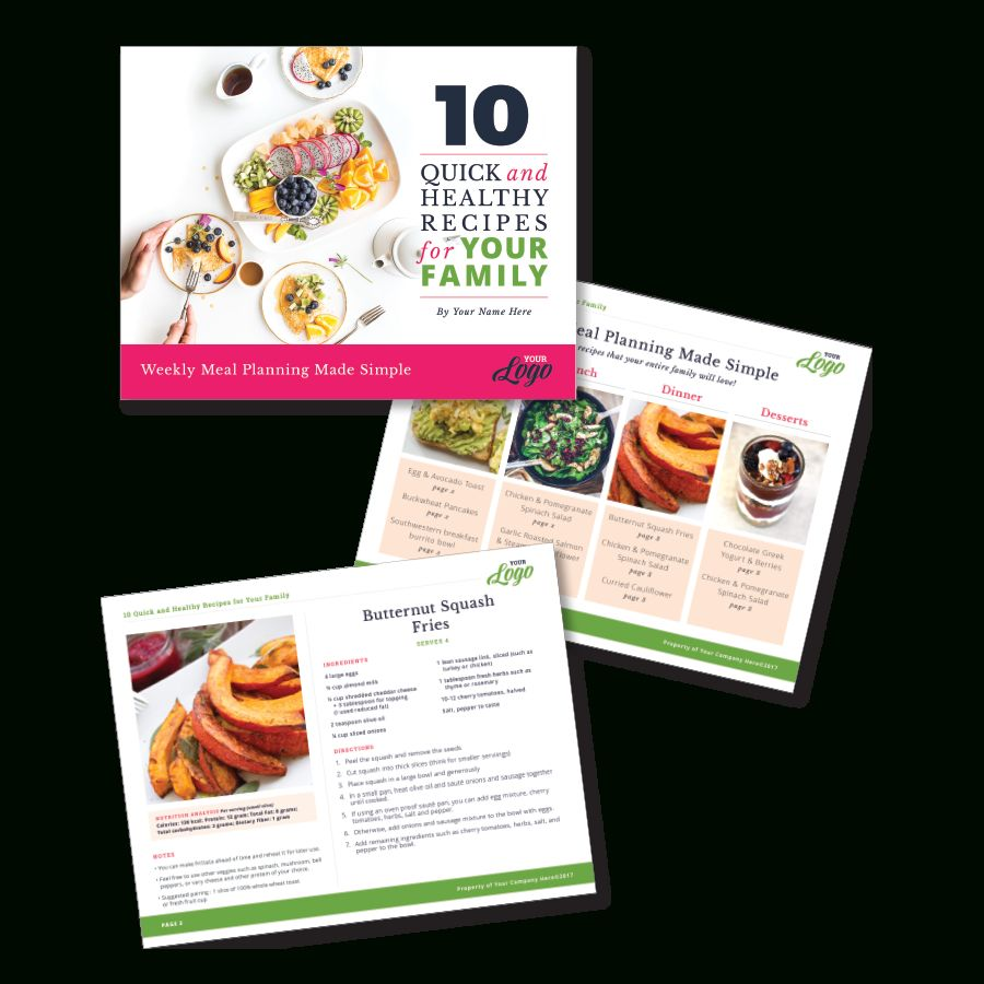Instant Download Photoshop Template For A Freebie Meal Planning And Recipe Card Version 1 With Regard To Recip Recipe Cards Indesign Templates Meal Planning