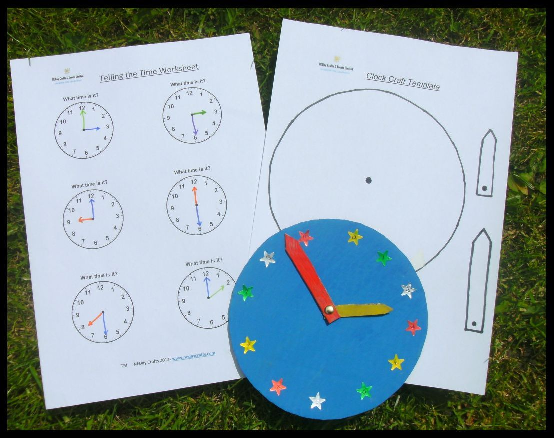 Telling The Time And Clock Craft Downloadable