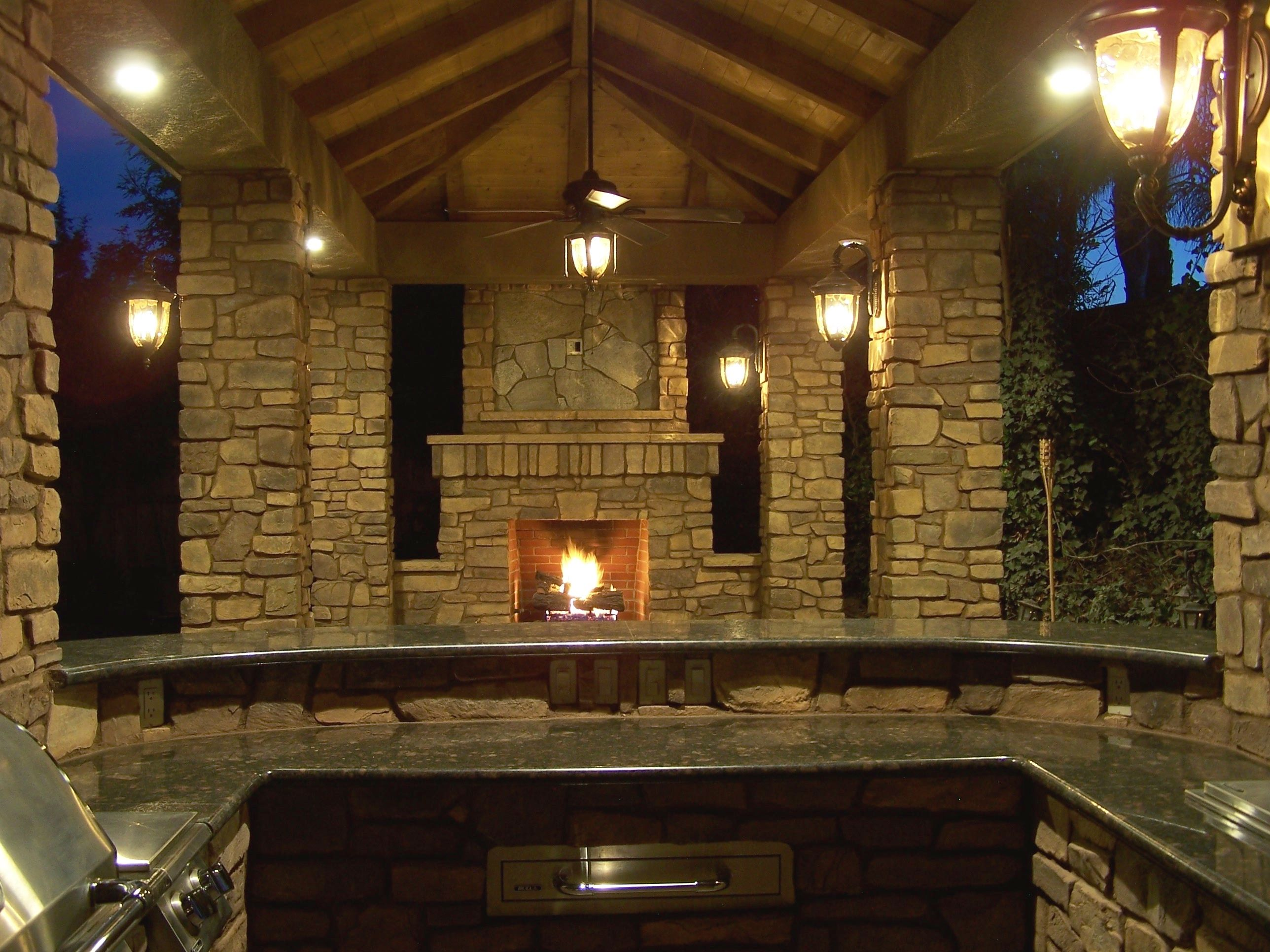 outdoor living at it s finest outdoor stone fireplace stone