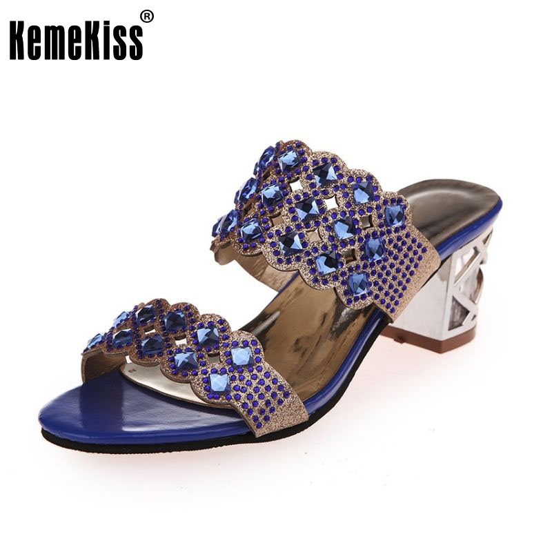 16.82$  Watch here - http://ali48c.shopchina.info/go.php?t=32653099240 - women high heels sandals summer open toe slippers party chunky heeled sandals female gold shoes size 35-40 WA0550  #SHOPPING