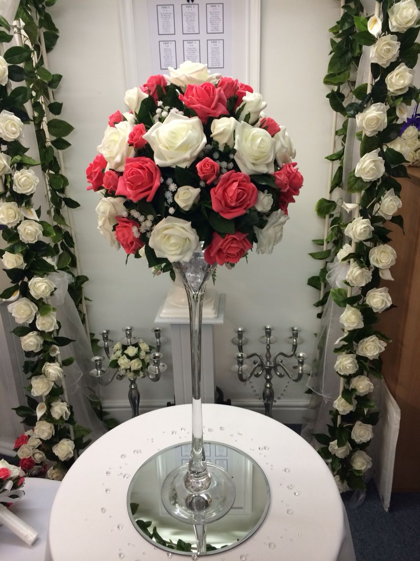 Martini vase with roses flower ball wedding or party venue decor martini vase with roses flower ball floridaeventfo Images