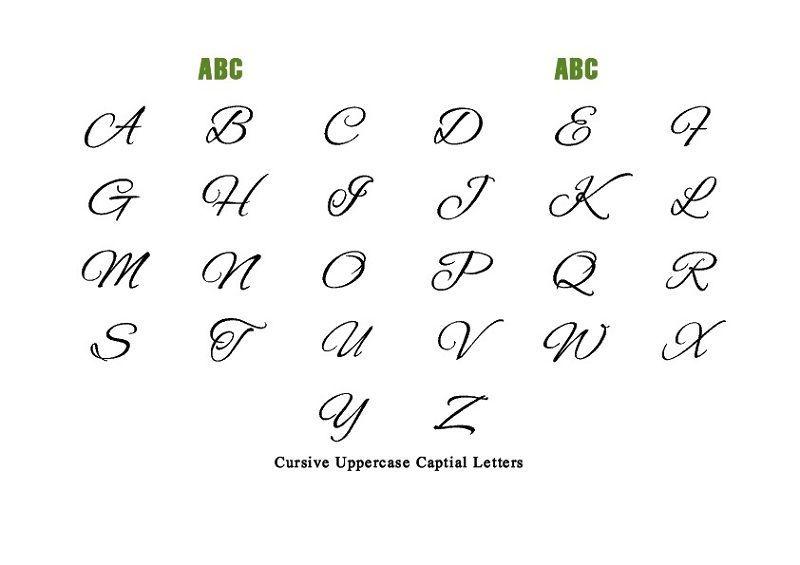 Capital Letter Alphabet Cursive | Capital cursive letters ...