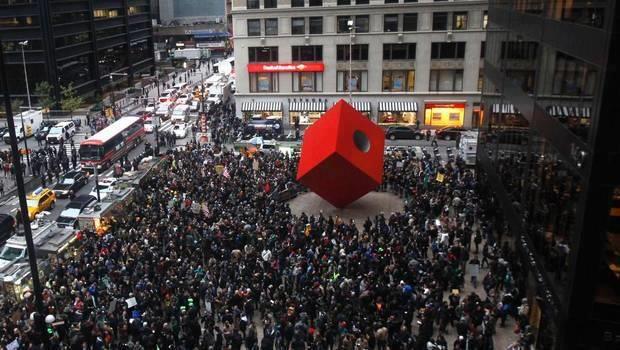 Zuccotti Park Wall Street Street Lower Manhattan