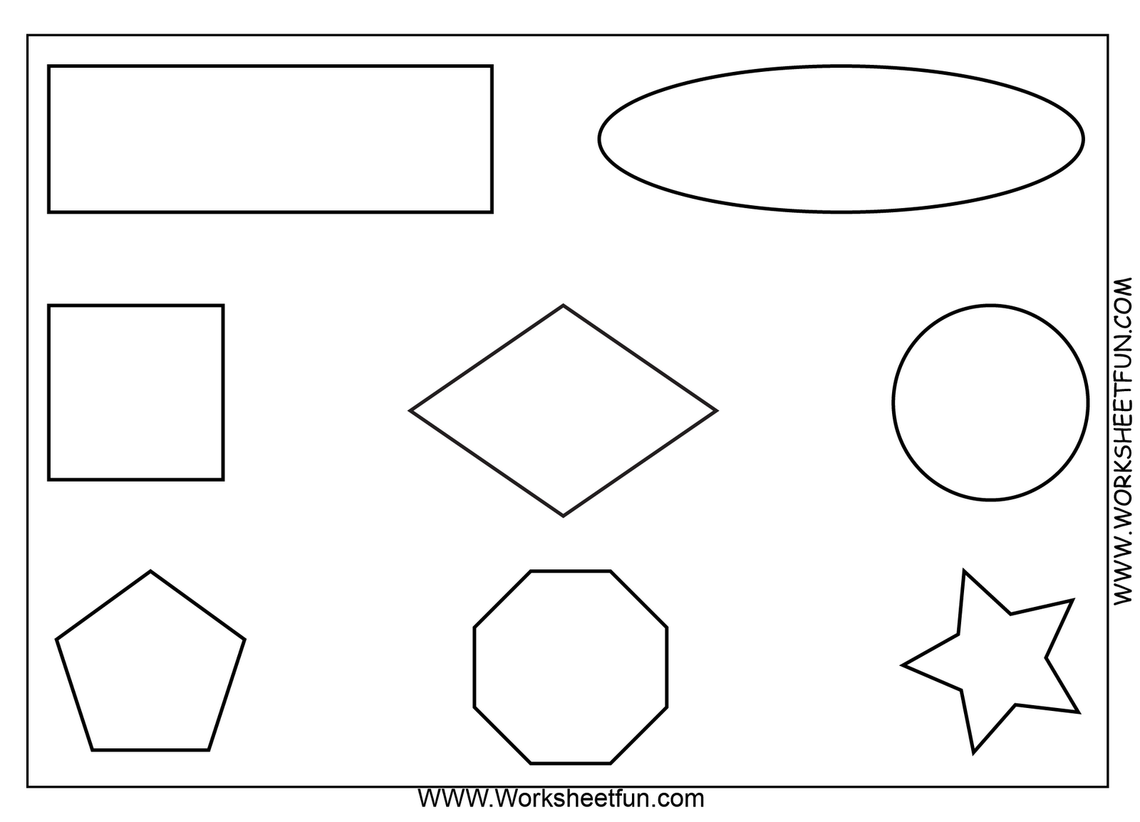 Coloring shapes worksheet - Printable Preschool Worksheets Shapes Tagged With Diamond Shape Coloring Page