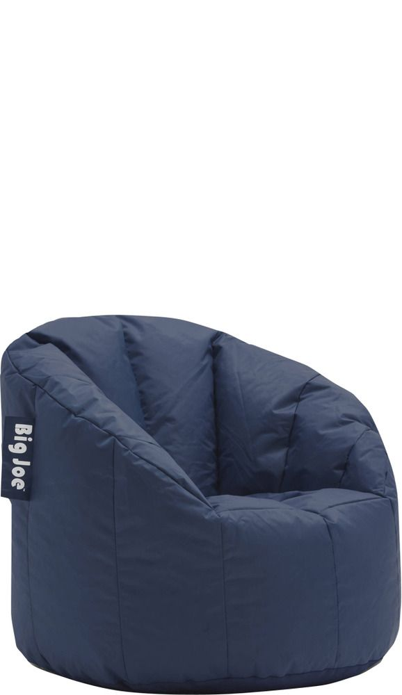 Fantastic Big Joe Milano Bean Bag Chair 32 X 28 X 25 Navy Blue Andrewgaddart Wooden Chair Designs For Living Room Andrewgaddartcom