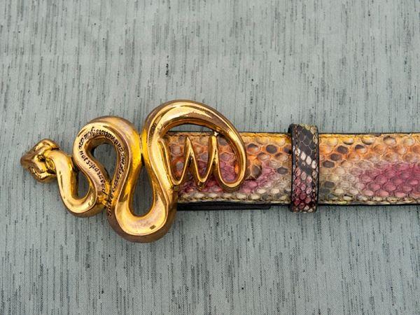 Gürtelschnalle belt buckle Snake antik gold