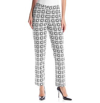 Kasper® Printed Slim Pants