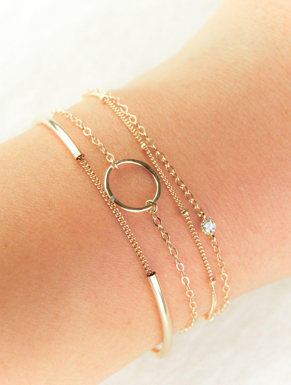 Hakumele bracelet kt gold filled eternity bracelet simple
