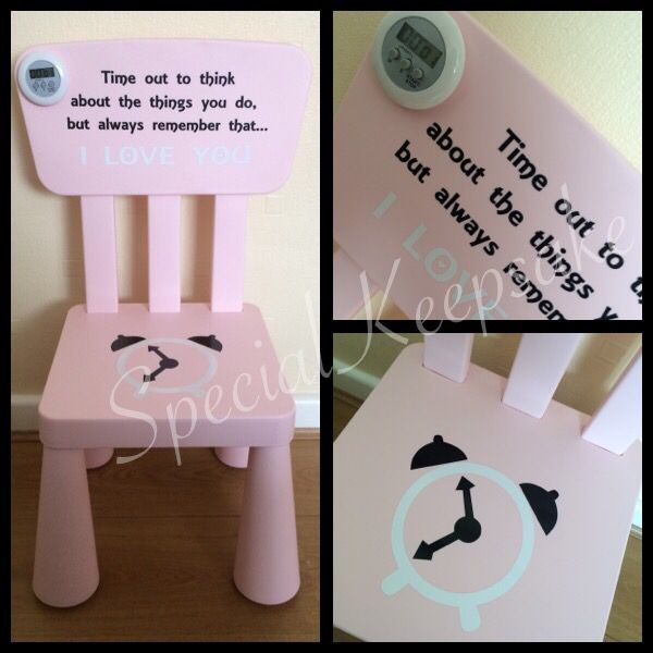 Time Out Chair With Timer children's personalised time out naughty chair step timer clock