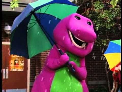 Barney Songs - Raindrops song - YouTube    sing this to my