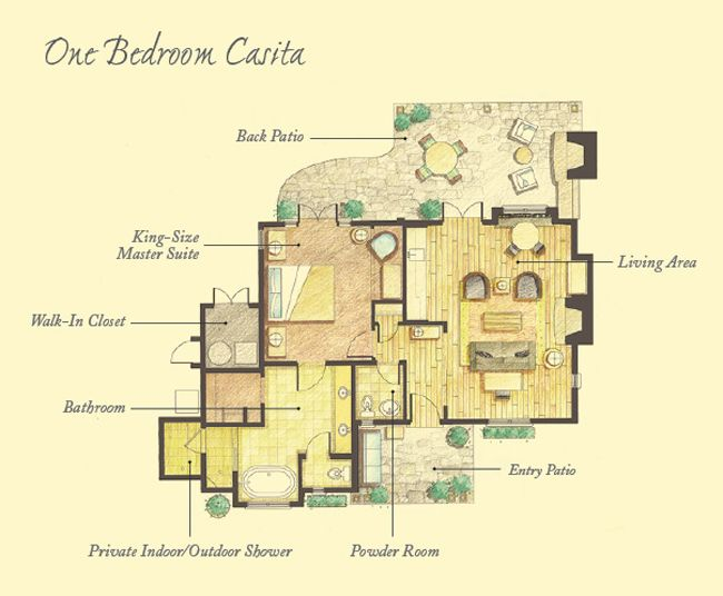 Floor Plans Mayacama Casitas Timbers Collection Floor Plans House Plans House Plans With Pictures