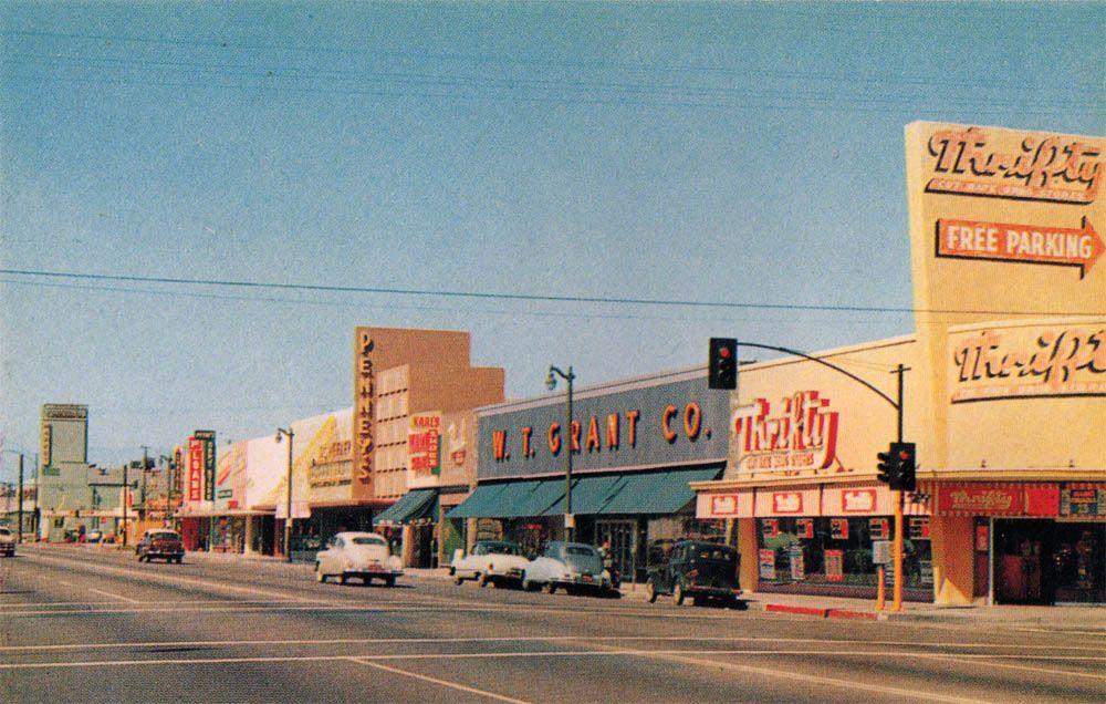 Lileks James Main Street Postcards Bellflower Bellflower California Long Beach California