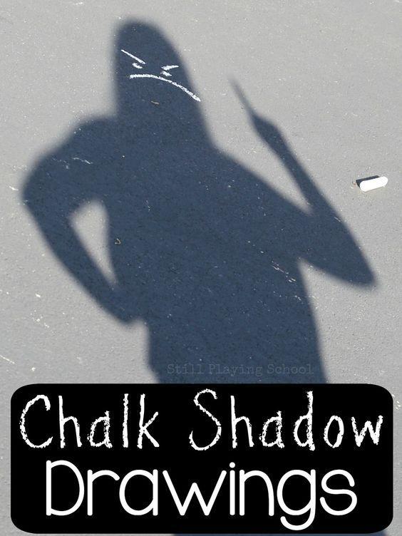 Chalk Shadow Drawings