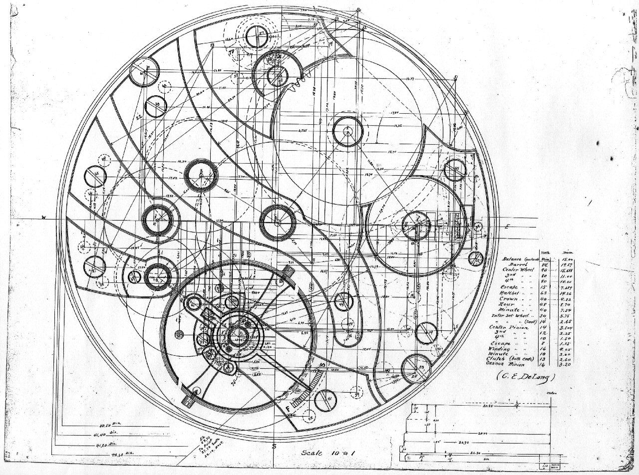 watch movement diagram john deere model 212 wiring patent drawing for a drawings art illusions