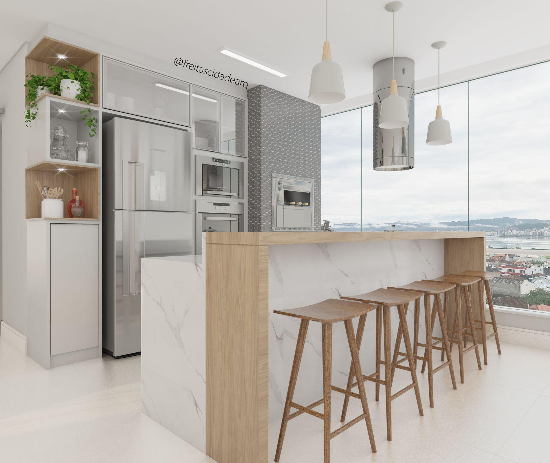 Rea Gourmet De Um Edif Cio Residencial Projeto Por Freitas Cidade