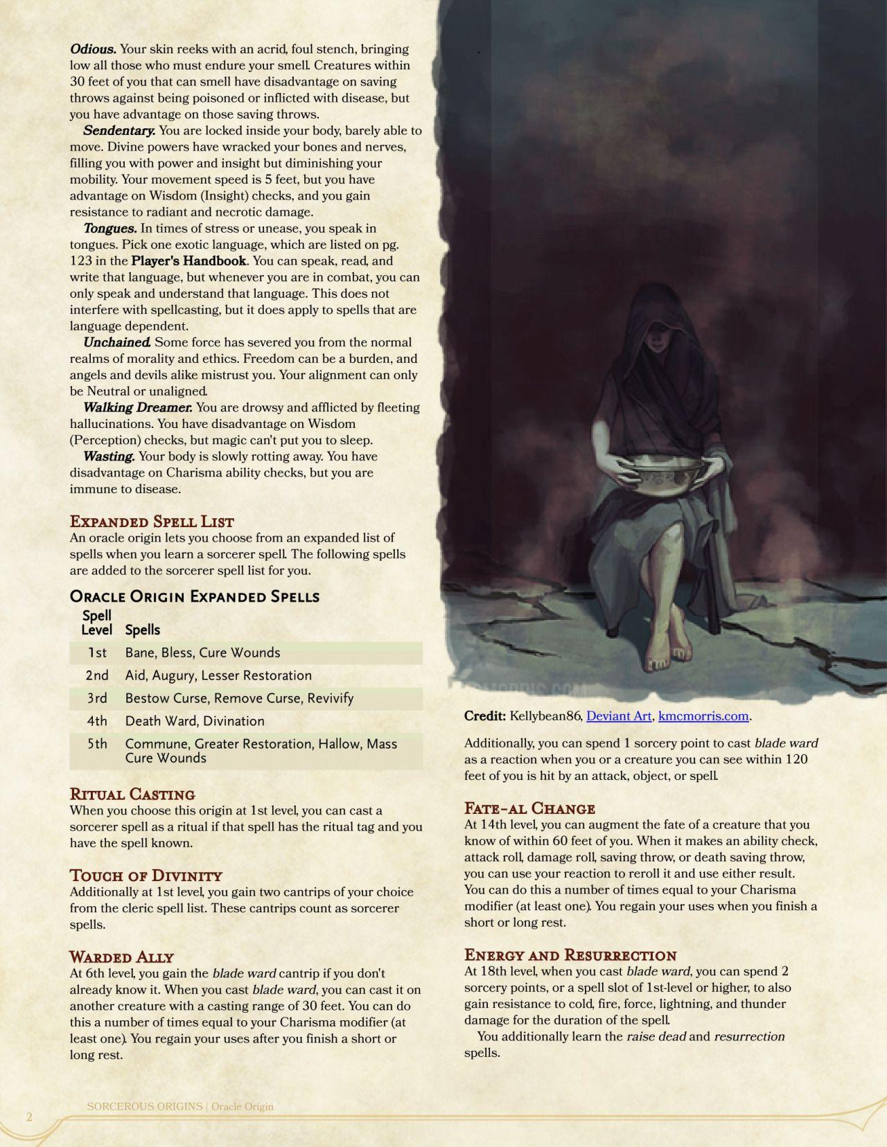 Oracle Origin Sorcerer By Keundt