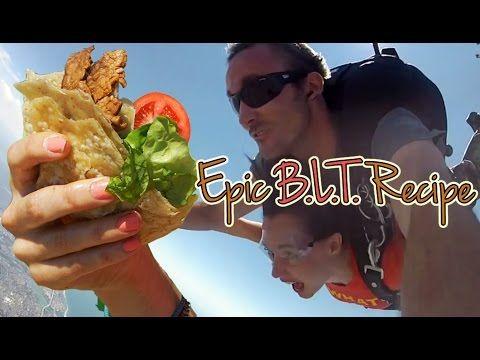 Vegan B.L.T Recipe Made While Skydiving - http://skydivinghq.net/vegan-b-l-t-recipe-made-while-skydiving/