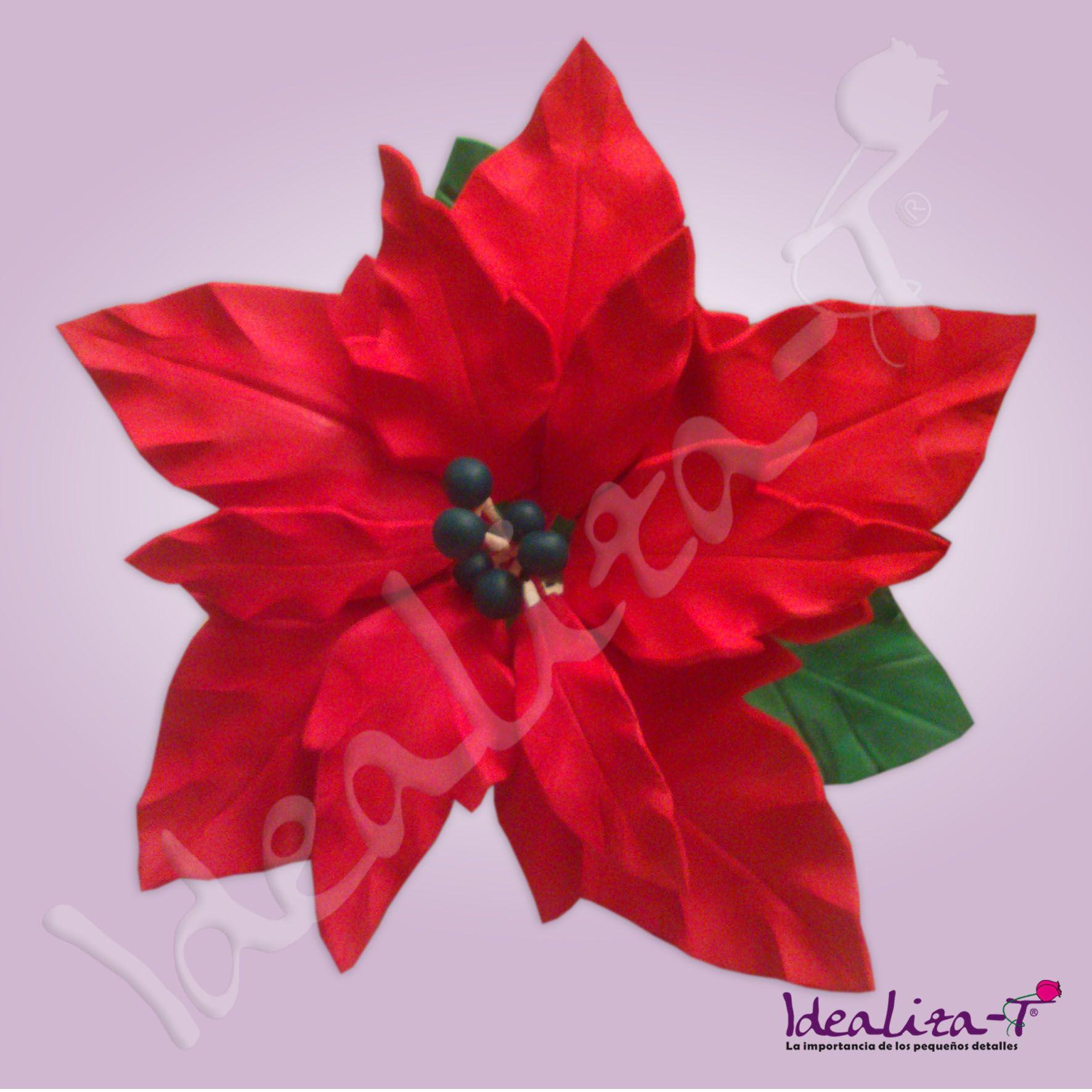 Flor de pascua realizada en goma eva los pistilos est n - Imagenes flores de navidad ...