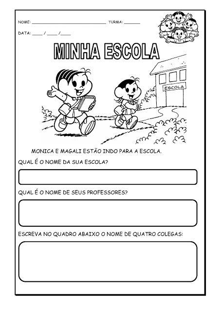 Alfabetizando Com Monica E Turma Identidade Educacao Infantil