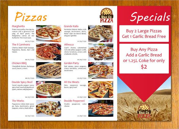22+ Pizza Menu Templates u2013 Free Sample, Example Format Download - sample menu template