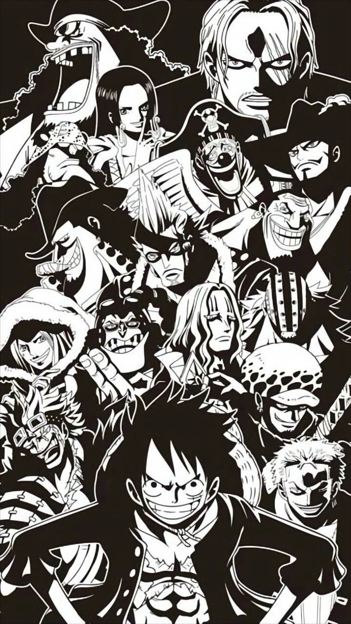 One Piece Rykamall One Piece Wallpaper Iphone One Piece Drawing One Piece Luffy Iphone one piece black and white