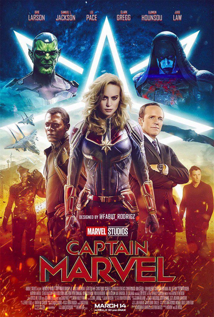 Bildergebnis für Captain Marvel film plakat